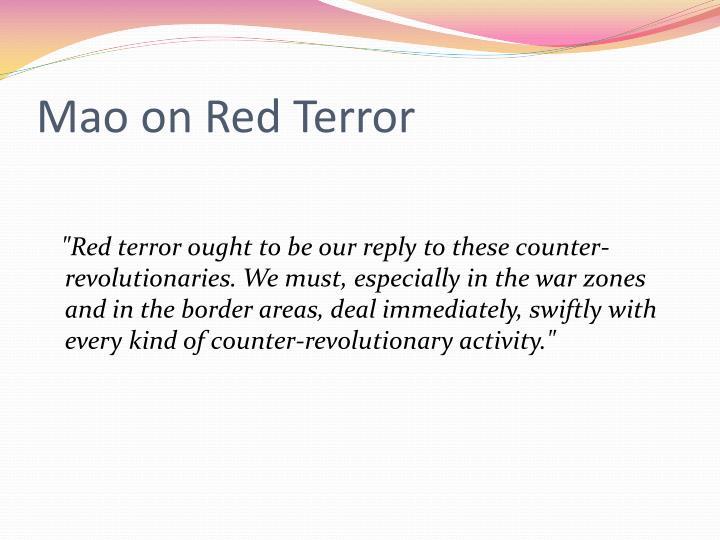 Mao on Red Terror
