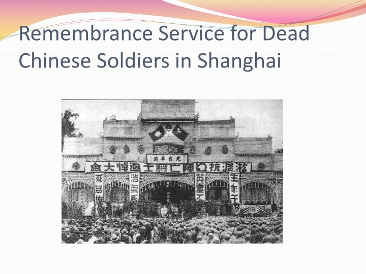 Remembrance Service for Dead Chinese Soldiers in Shanghai
