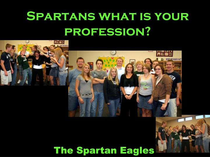 Spartans what is your profession?