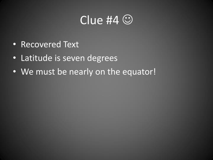 Clue #4