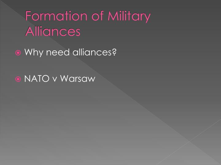 Formation of Military Alliances