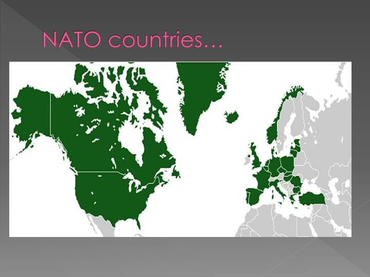 NATO countries…