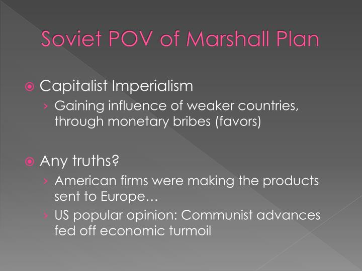 Soviet POV of Marshall Plan