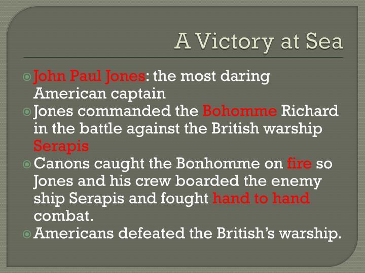 A Victory at Sea