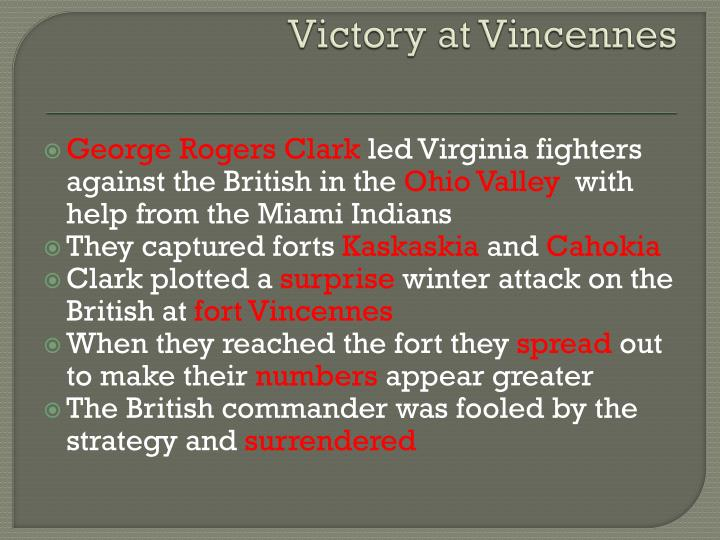 Victory at Vincennes