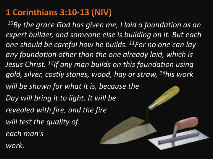 1 Corinthians 3:10-13