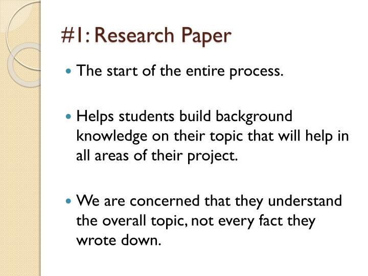 #1: Research Paper
