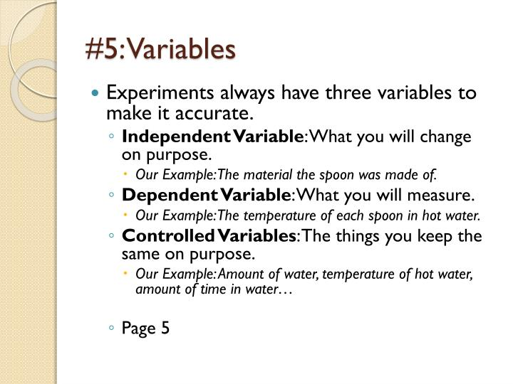 #5: Variables