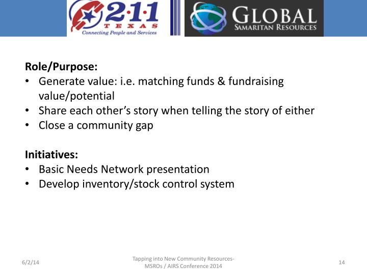 Role/Purpose: