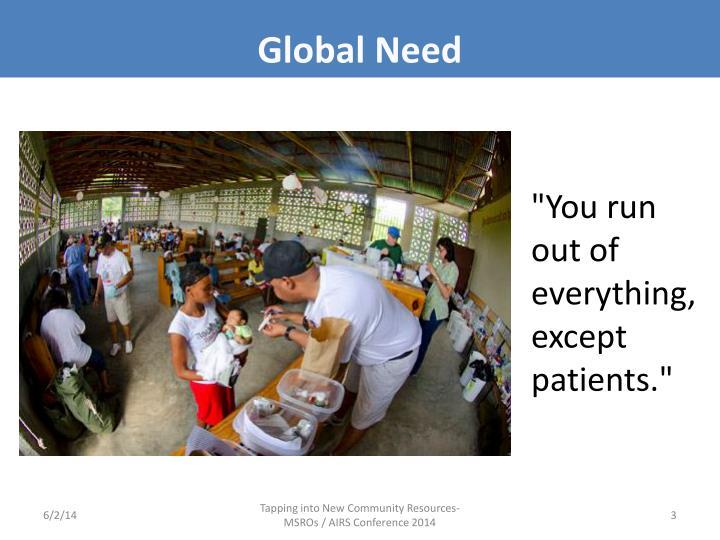 Global Need