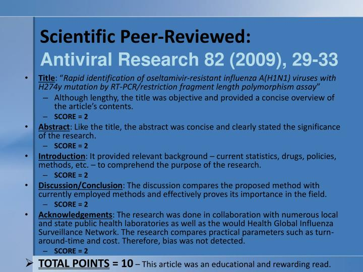 Scientific Peer-Reviewed: