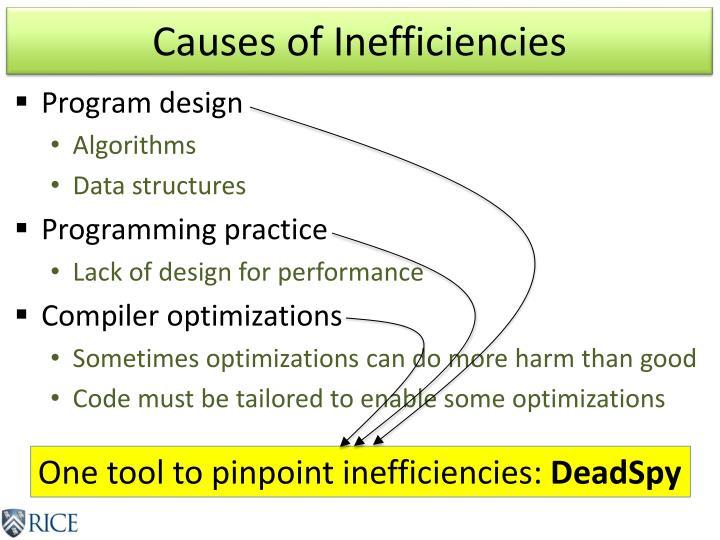Causes of Inefficiencies