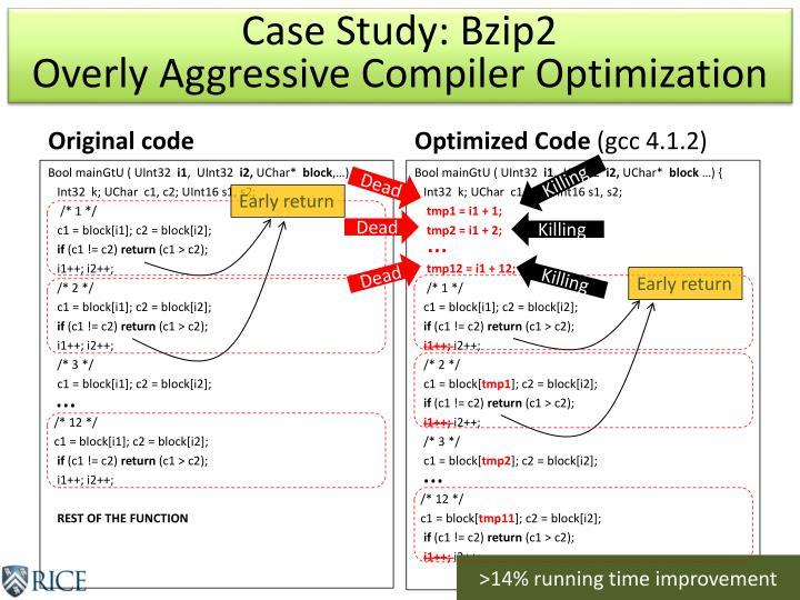 Case Study: Bzip2