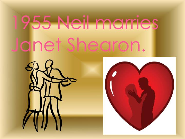 1955 Neil marries