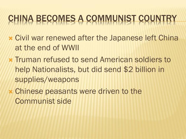 China becomes a communist country1