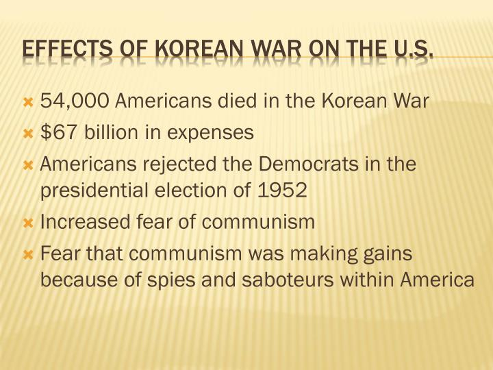 54,000 Americans died in the Korean War