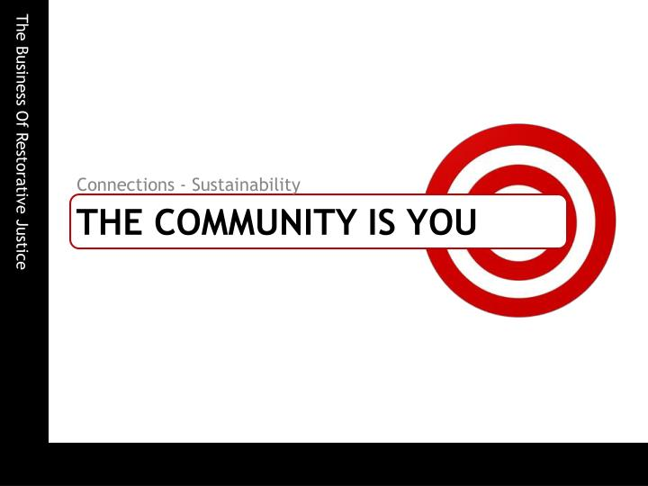 The community is you