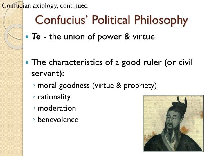 Confucian axiology, continued