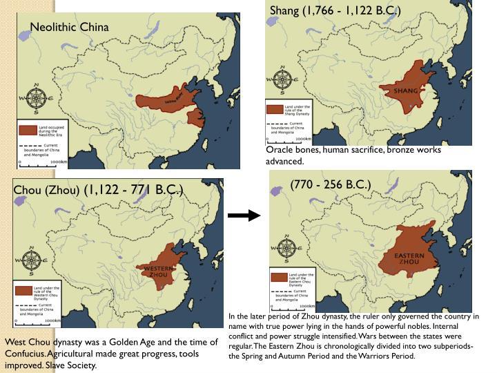 Shang (1,766 - 1,122 B.C.)