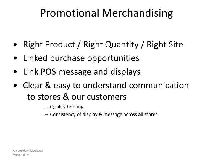 Promotional Merchandising