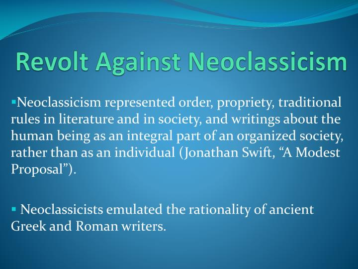 Revolt Against Neoclassicism