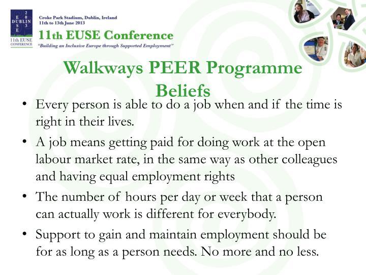 Walkways PEER Programme