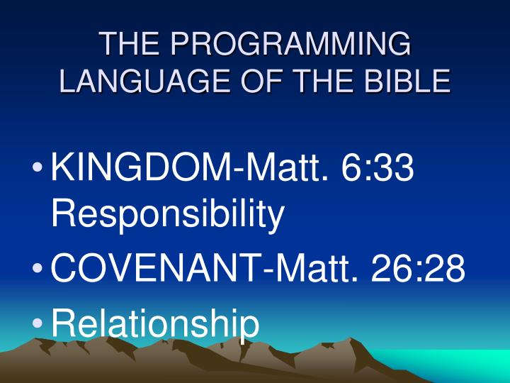 The programming language of the bible