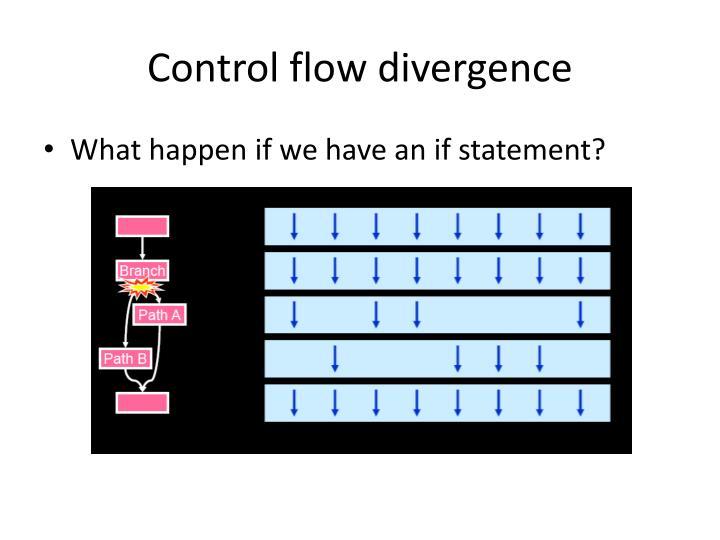 Control flow divergence
