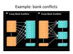 example bank conflicts