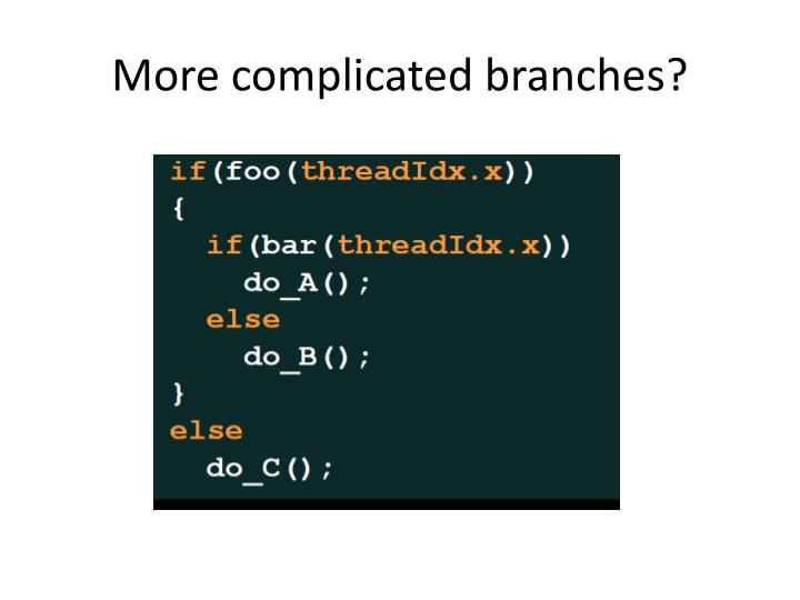 More complicated branches?