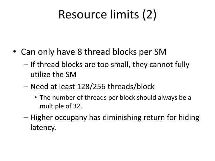 Resource limits (2)