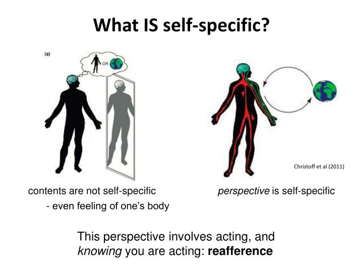 What IS self-specific?