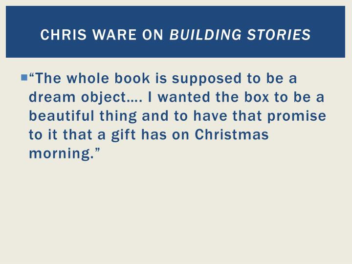 Chris ware on building stories