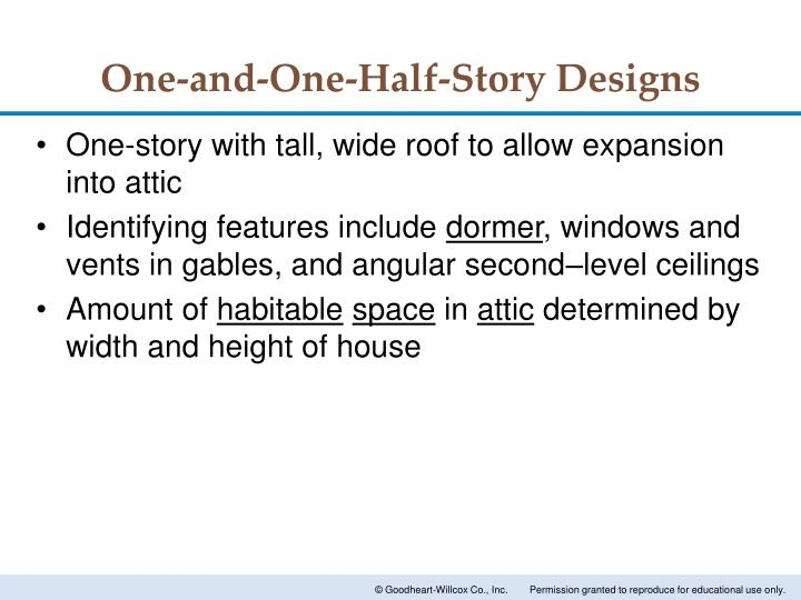 One-and-One-Half-Story Designs