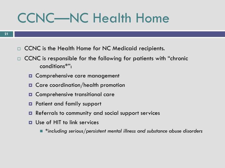 CCNC—NC Health Home