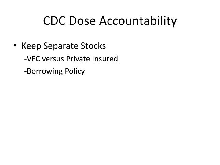 CDC Dose Accountability