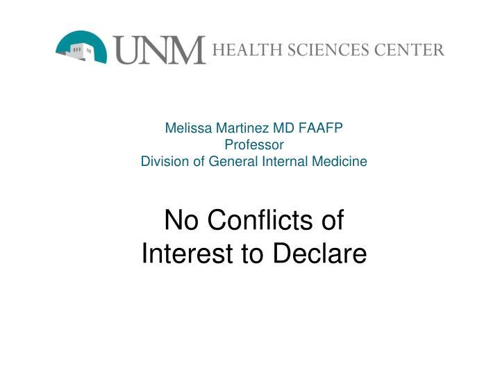 Melissa Martinez MD FAAFP