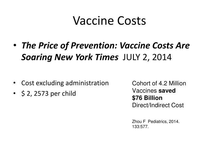 Vaccine Costs
