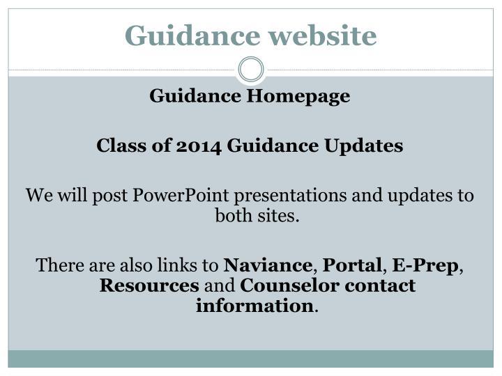 Guidance website