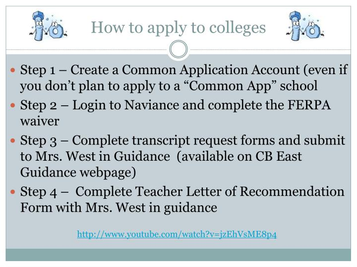 How to apply to colleges