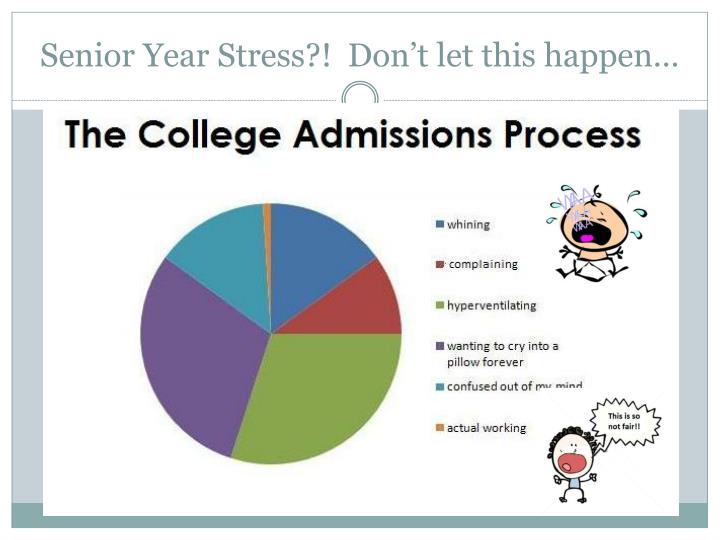 Senior Year Stress?!  Don't let this happen…