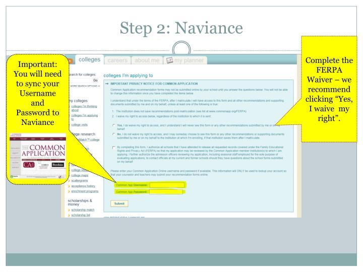 Step 2: Naviance