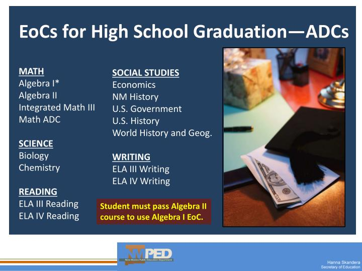 EoCs for High School Graduation—ADCs