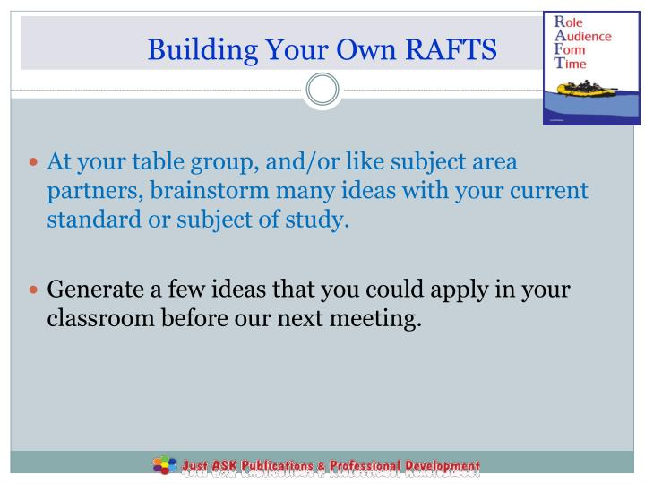 Building Your Own RAFTS
