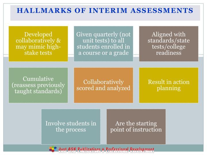 Hallmarks of Interim Assessments