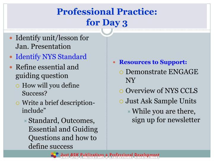 Professional Practice: