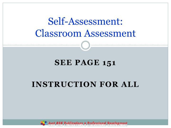 Self-Assessment: