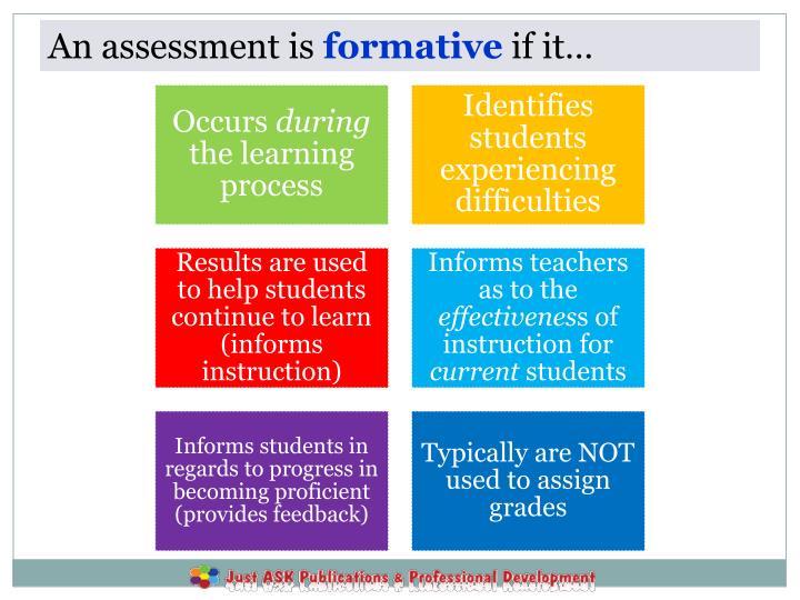 An assessment is