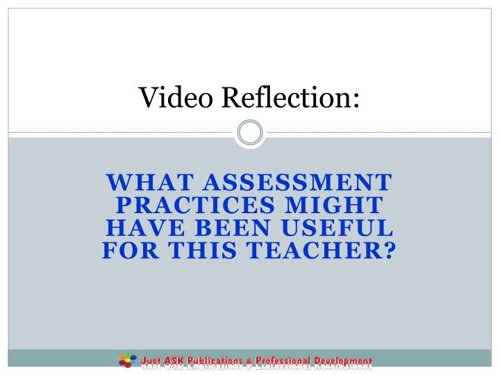 Video Reflection: