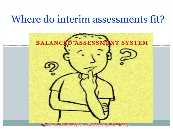 Where do interim assessments fit?